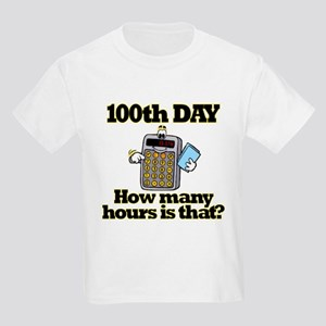 100th Day Calculator Kids Light T-Shirt
